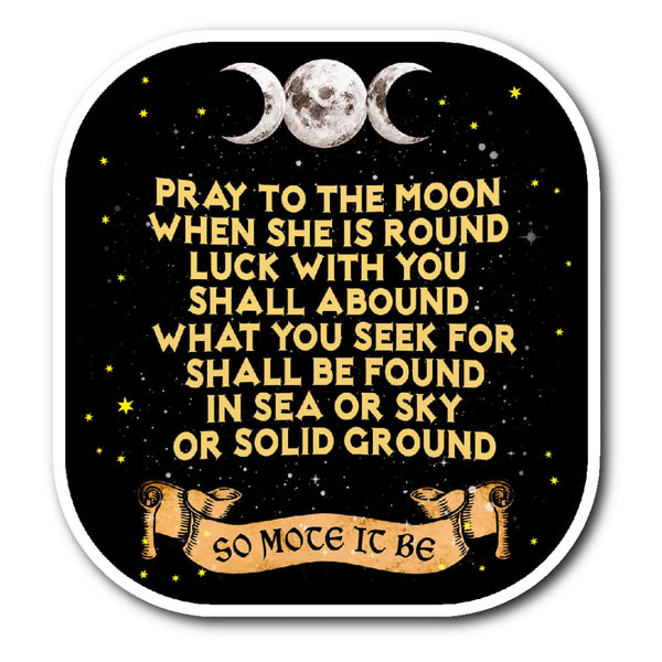 Pray To The Moon Sticker - The Moonlight Shop