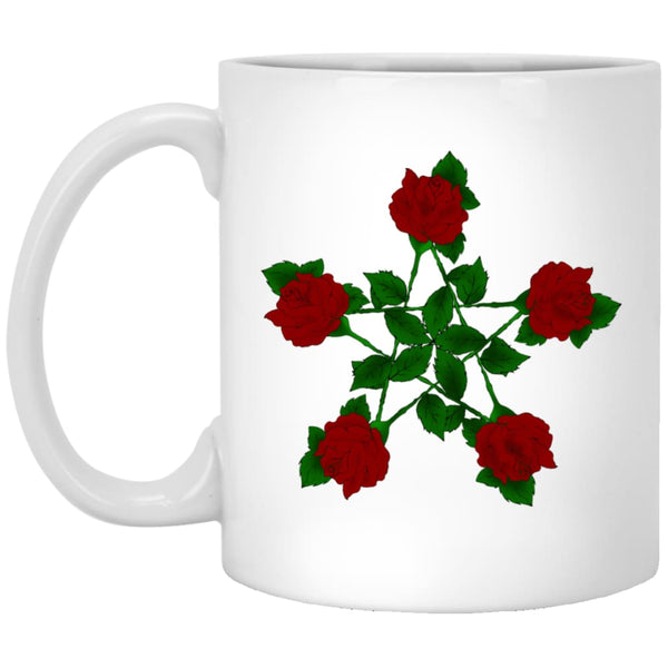 Rose Pentacle Mug - The Moonlight Shop