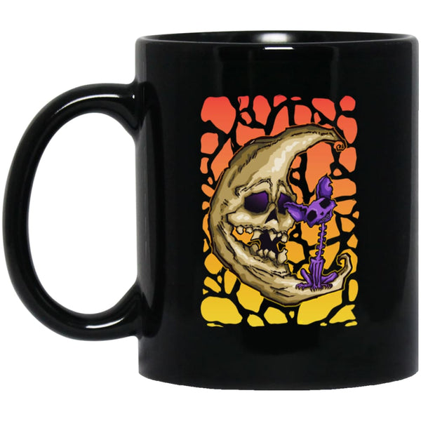 Skeletal Moon And Cat Mug - The Moonlight Shop