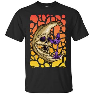 Skeletal Moon And Cat Shirt - The Moonlight Shop