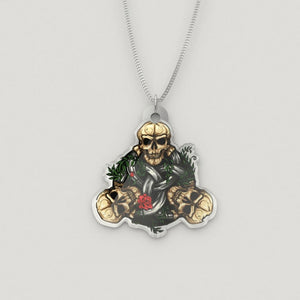 Skull Triquetra Luxury Charm Necklace - The Moonlight Shop