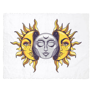 Sun And Moon Fleece Blanket - The Moonlight Shop