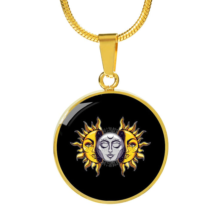 Sun And Moon Luxury Necklace - The Moonlight Shop