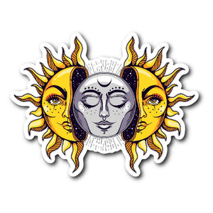 Sun And Moon Sticker - The Moonlight Shop