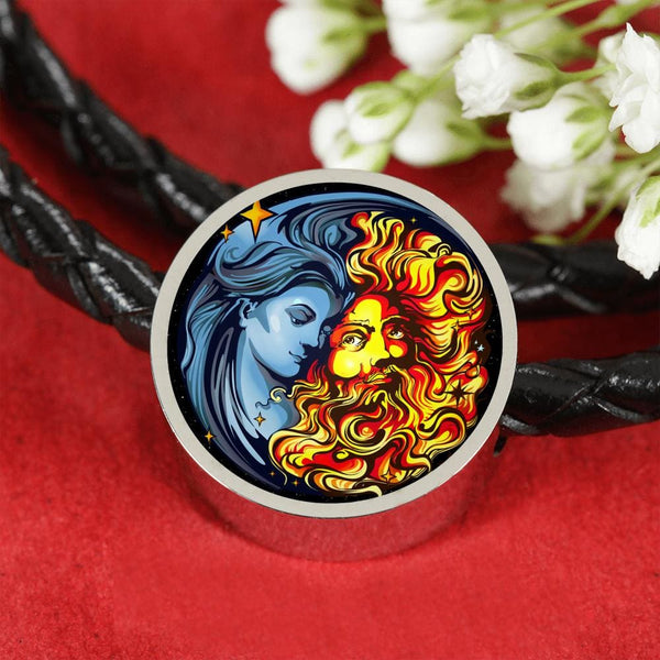 Sun God and Moon Goddess Charm w. Bracelet - The Moonlight Shop