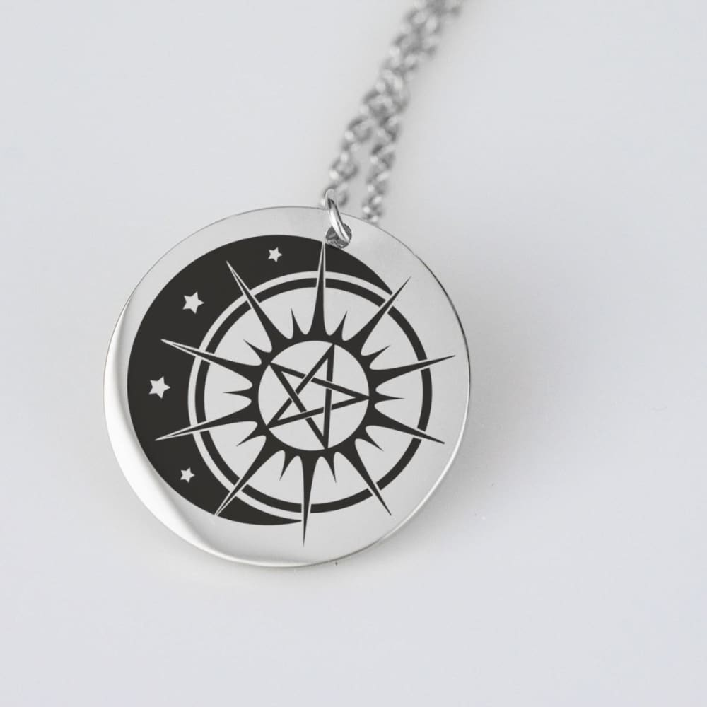 Sun, Moon and Pentacle Stainless Steel