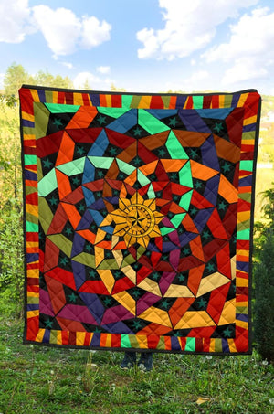 Sun Moon and Stars Premium Quilt - The Moonlight Shop