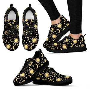 Sun Moon and Stars Womens Sneakers - The Moonlight Shop