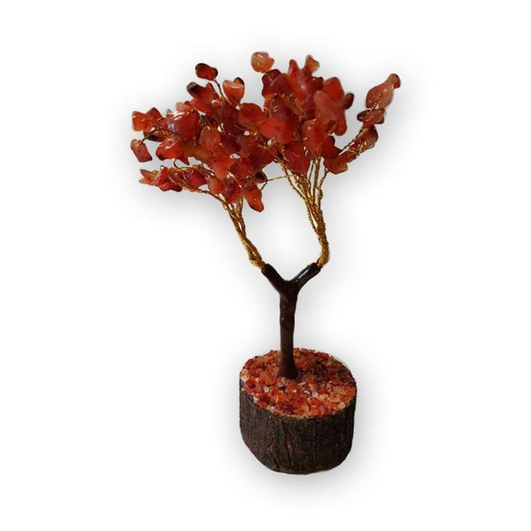 The Carnelian Gemstone Tree Of Focus And Concentration - The Moonlight Shop