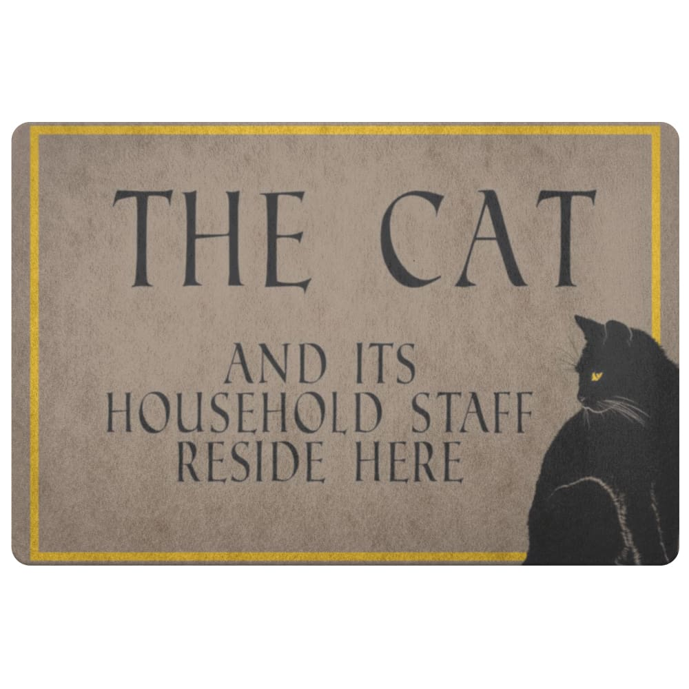 The Cat And Its Staff Doormat