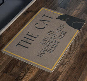 The Cat And Its Staff Doormat - The Moonlight Shop