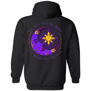 The Moon Sees My Soul Hoodie (back only) - The Moonlight Shop