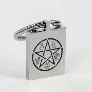 The Pentacle And The Elements Keychain - The Moonlight Shop