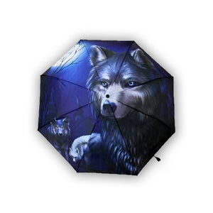 The Spirit Of The Wolf Umbrella - The Moonlight Shop