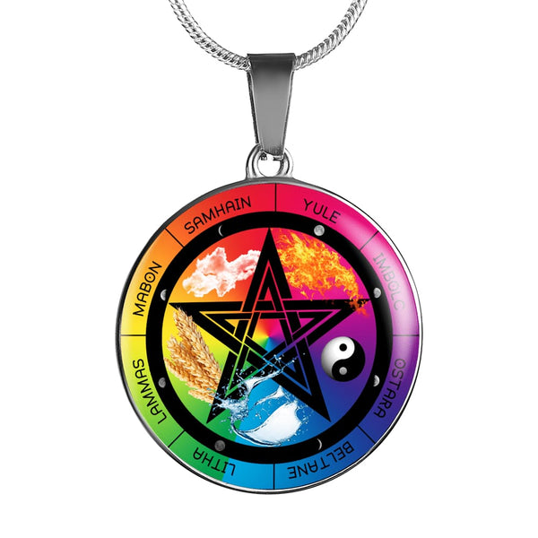 The Wiccan Sabbats Necklace - The Moonlight Shop