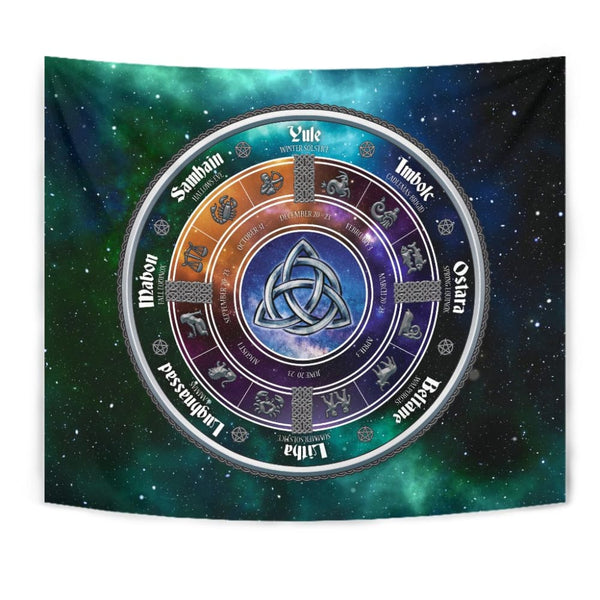 The Wiccan Sabbats Tapestry - The Moonlight Shop