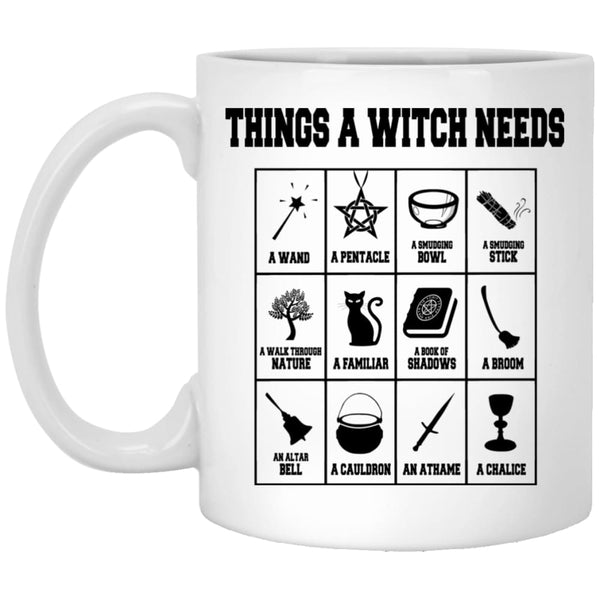 Things A Witch Needs Mug - The Moonlight Shop