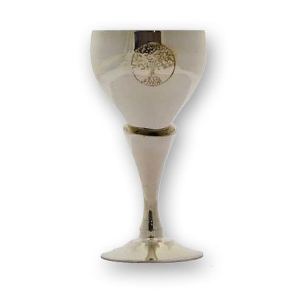 Tree Of Life Silver Chalice - The Moonlight Shop