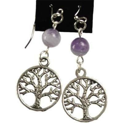 Tree Of Life With Power Stones Earrings - The Moonlight Shop
