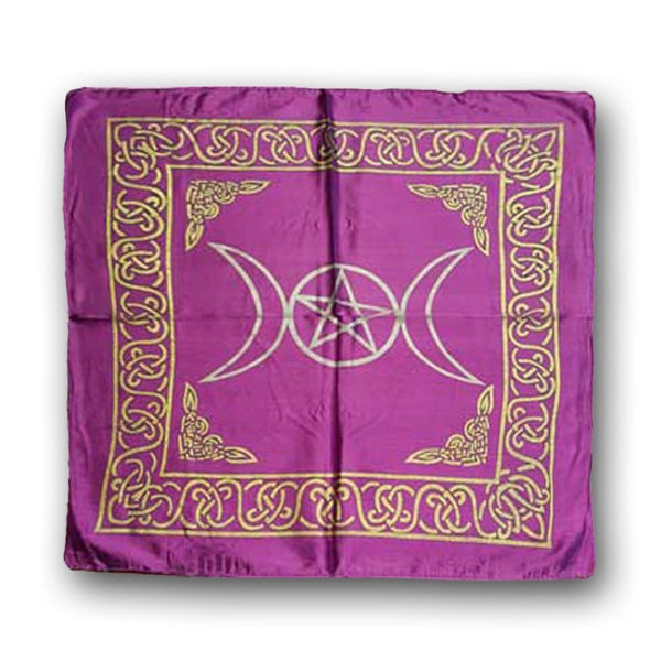 Triple Moon Energy Of The Goddess Altar Cloth - The Moonlight Shop