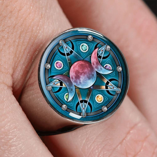 Triple Moon Ring - The Moonlight Shop