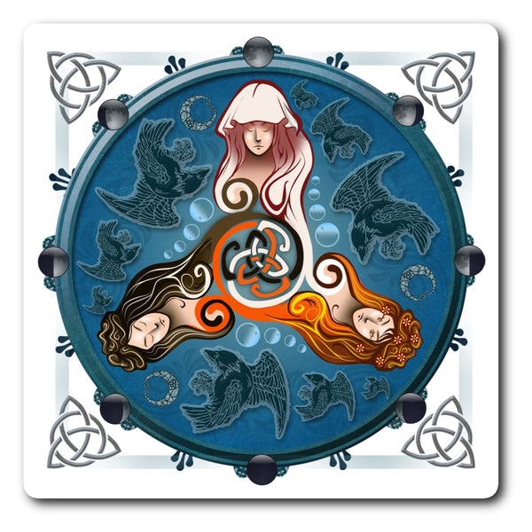 Triquetra Goddesses Sticker - The Moonlight Shop