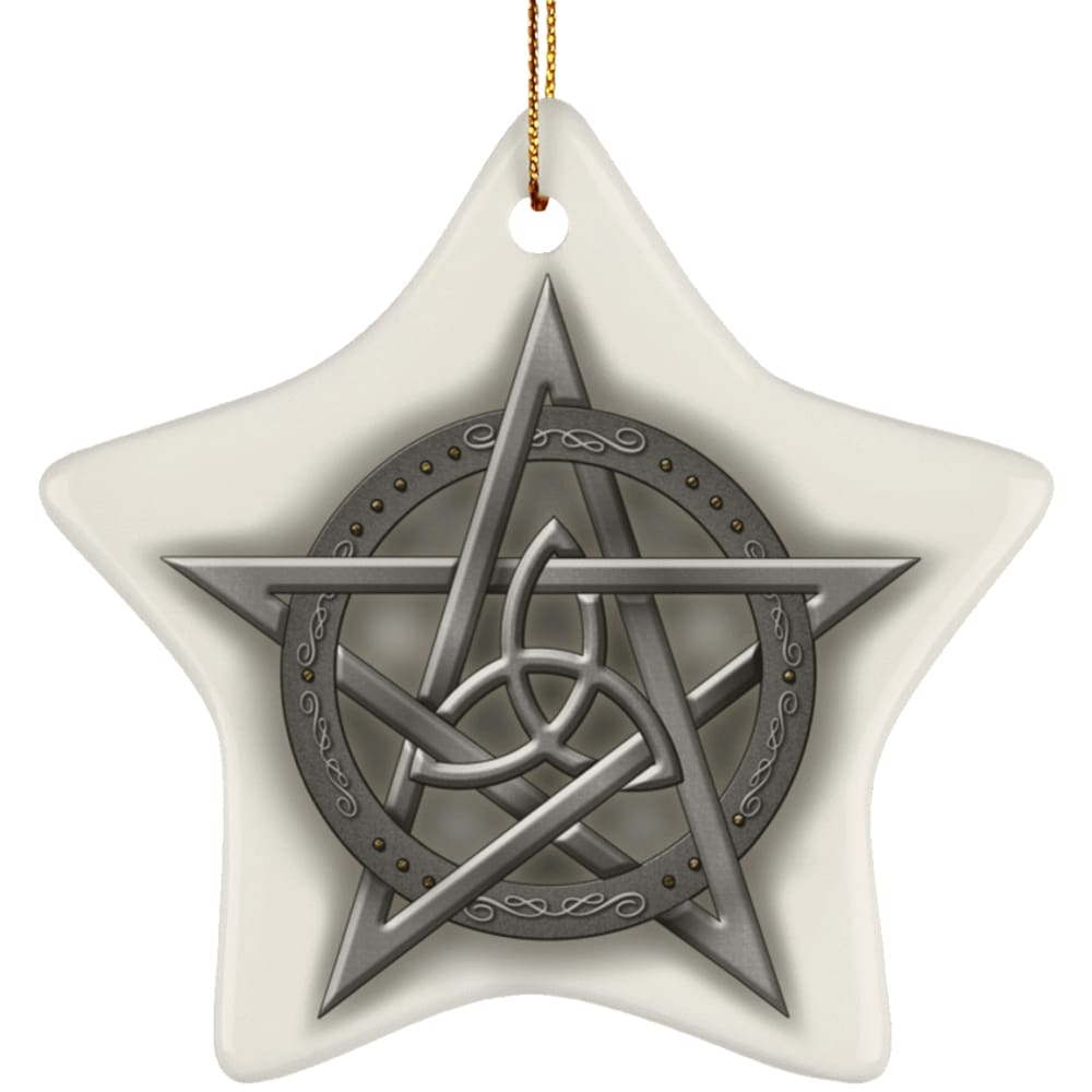 Triquetra In Pentacle Ornament