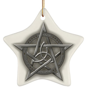 Triquetra In Pentacle Ornament - The Moonlight Shop