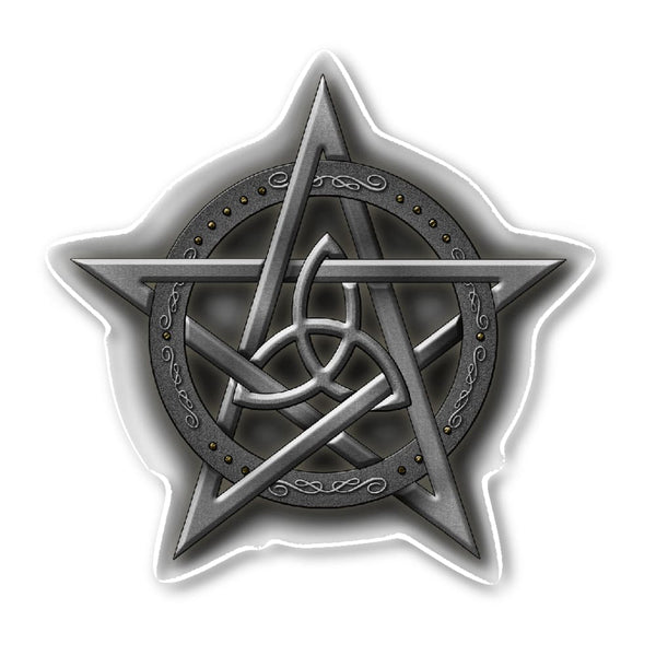 Triquetra In Pentacle Sticker - The Moonlight Shop