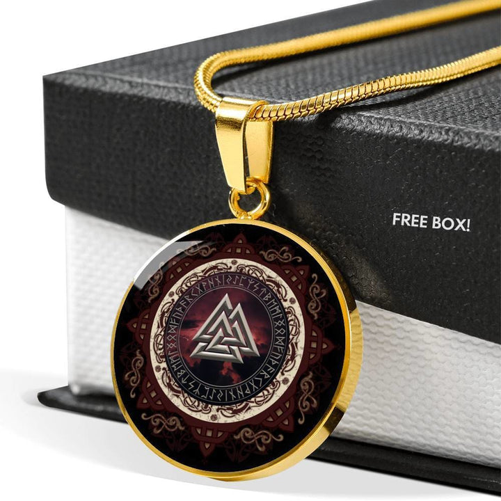 Valknut Luxury Necklace - The Moonlight Shop