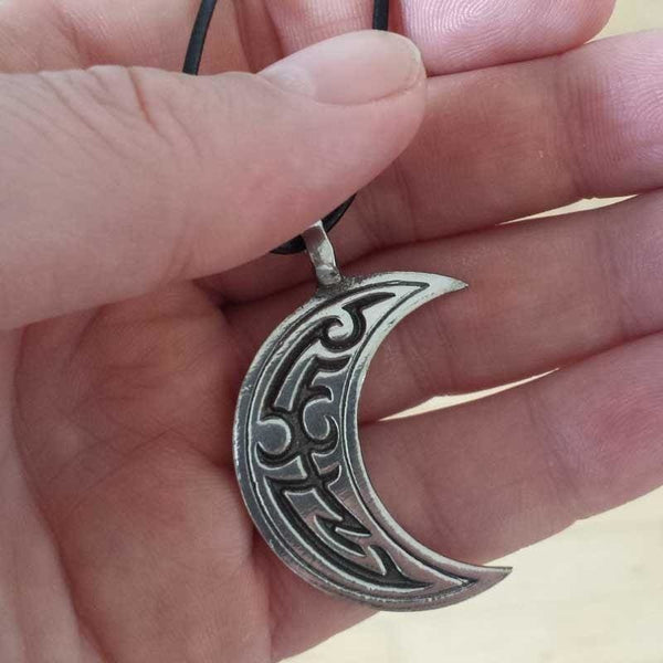 Waning Crescent Moon Necklace - The Moonlight Shop
