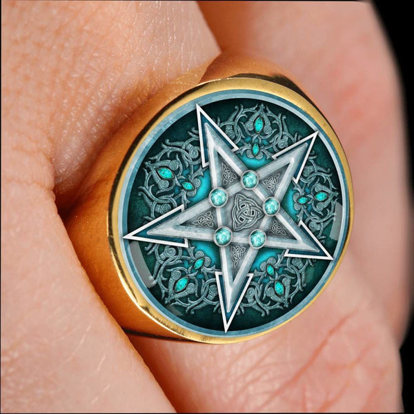 Water Pentacle Ring - The Moonlight Shop