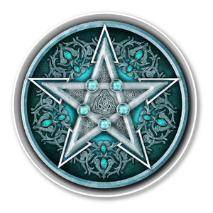 Water Pentacle Sticker - The Moonlight Shop