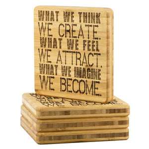 What We Think Bamboo Coaster - The Moonlight Shop