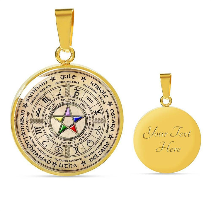 Wheel Of The Year Pendant - The Moonlight Shop
