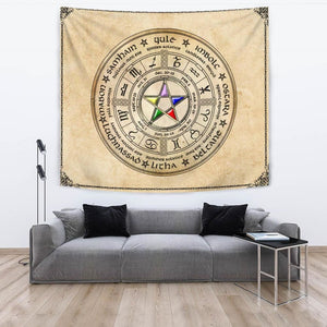 Wheel Of The Year Tapestry - The Moonlight Shop
