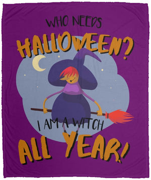 Witch All Year Fleece Blanket - The Moonlight Shop