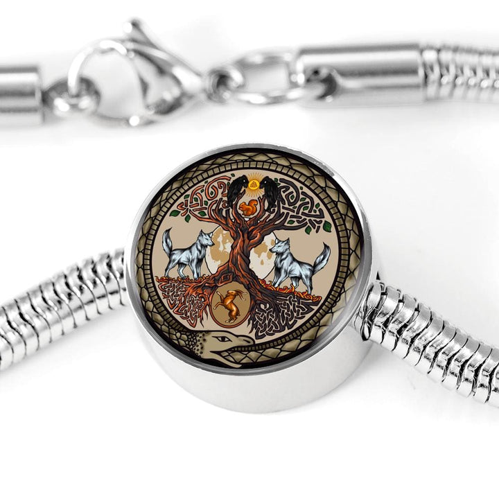 Yggdrasil Charm w. SS Bracelet - The Moonlight Shop