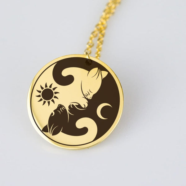 Yin Yang Cats Necklace - The Moonlight Shop