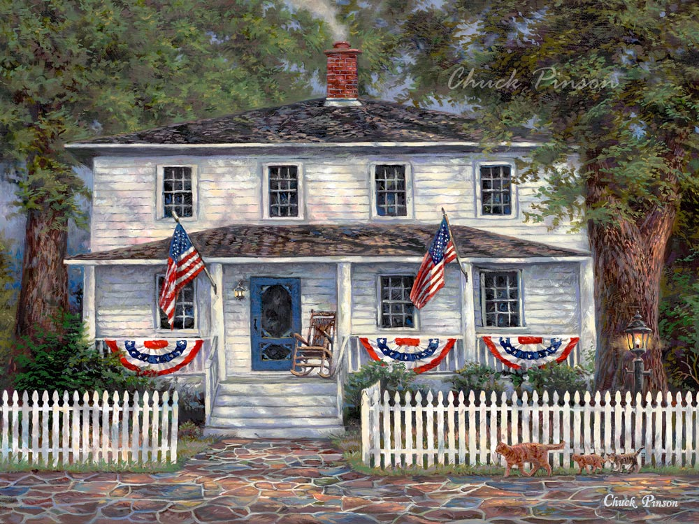 Americana Patriotic Colonial Painting