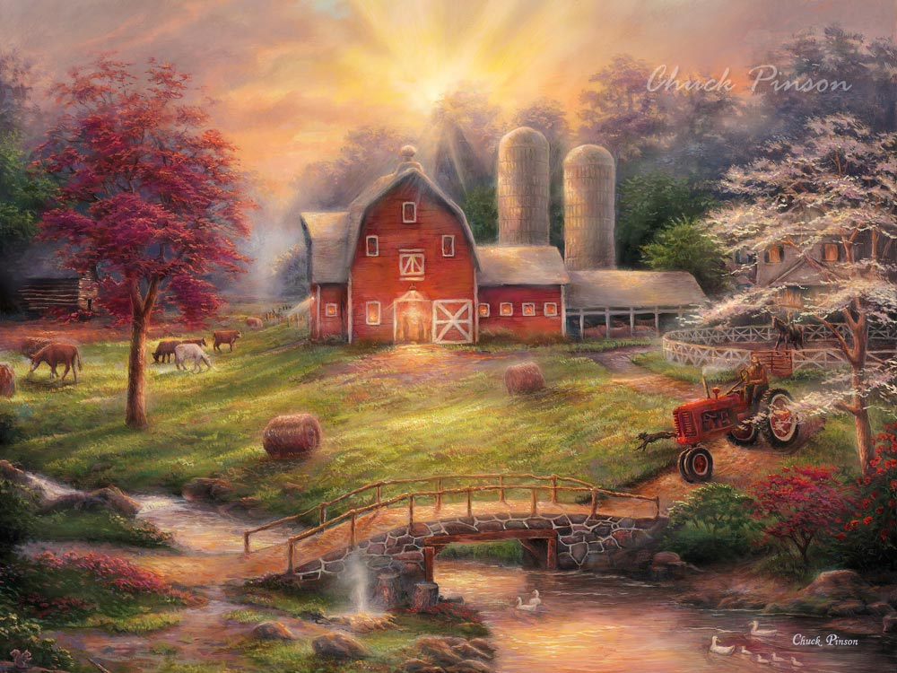 Farm Painting Barn Art