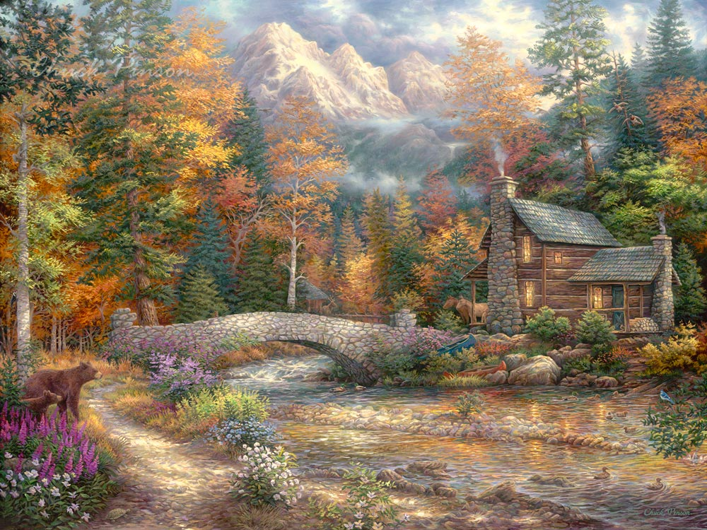 Dramatic Landscape Western Painting