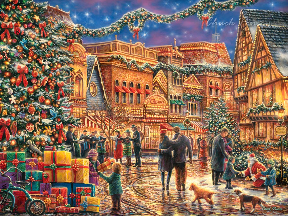 Holiday Christmas Card classic art detailed