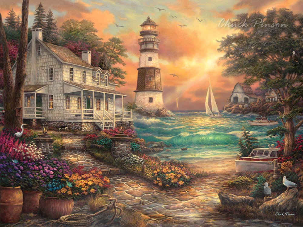Inspirational Canvas Art Lighthouse Puzzle