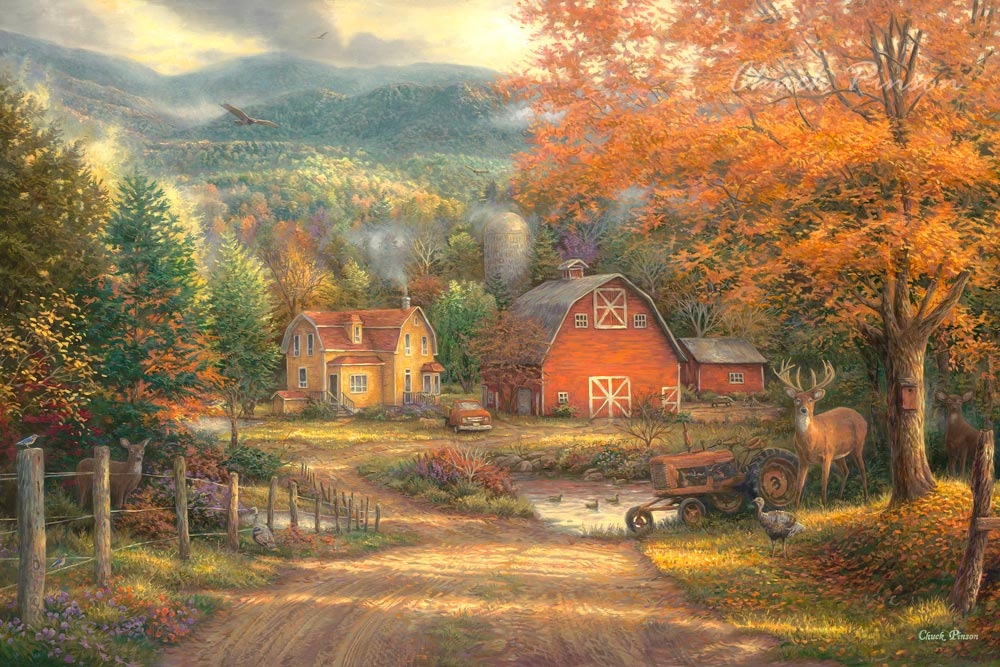 Country Landscape Painting