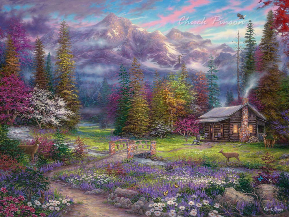 Popular Cabin Canvas Art