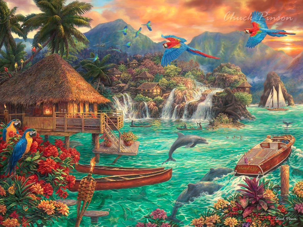 Hawaiian Tropical Landscape Painting