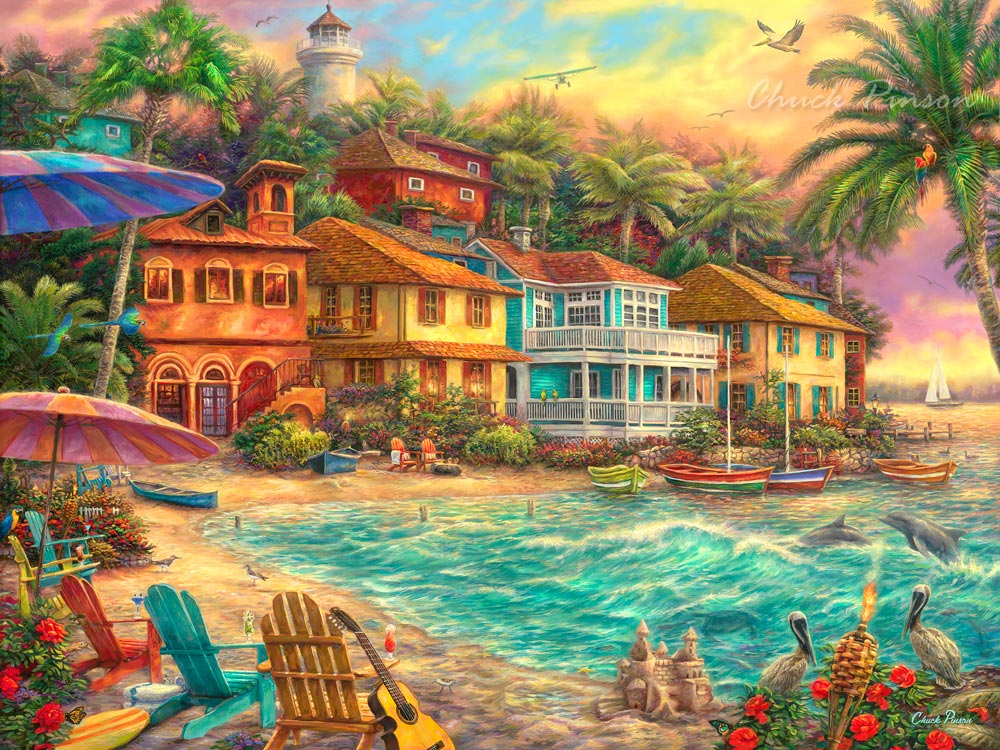 Beach Sunset house painting