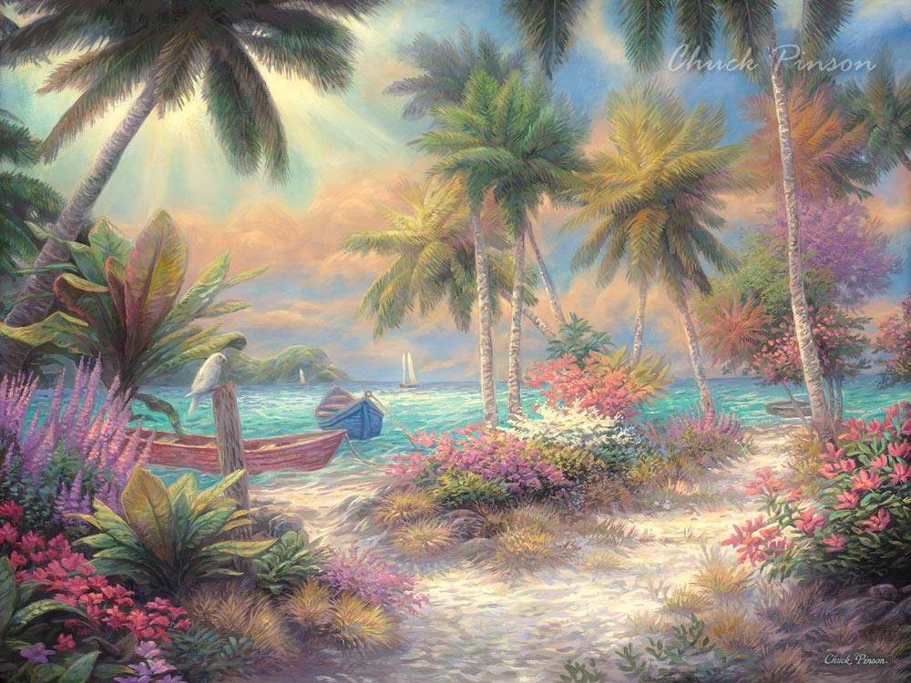 Tropical Art Original Oil Paintings