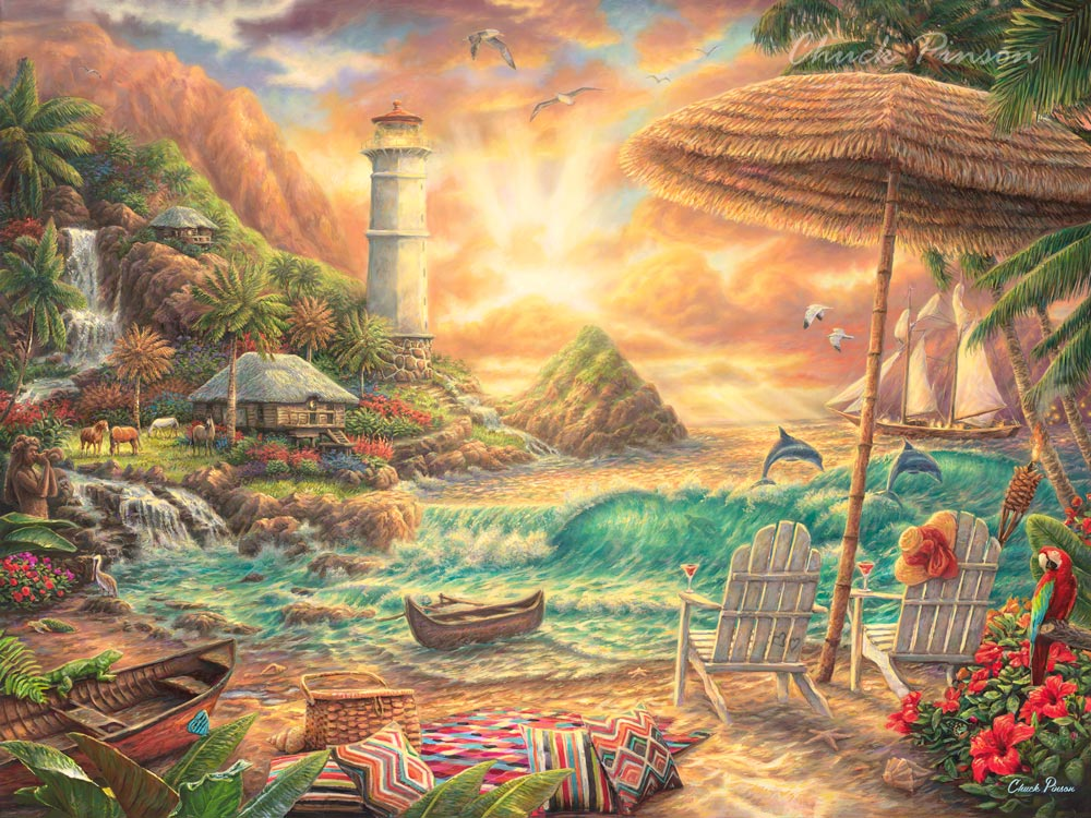 Beautiful Beach Sunset Painting